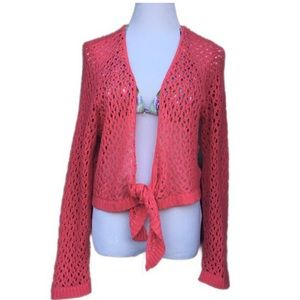 Pink Eyelet Beach Cover Top